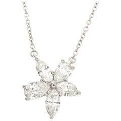 Tiffany & Company Victoria Platinum and Diamond Pendant Necklace