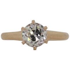 Antique Diamond Gold Engagement Ring