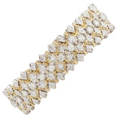 18 Karat Two-Tone Gold Diamond Bracelet
