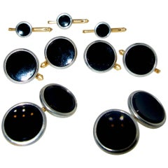 Gentleman's Full Dress Set with Onyx and Gold, circa 1935