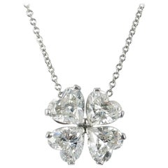 Four-Leaf Clover Diamond Pendant by J. Birnbach