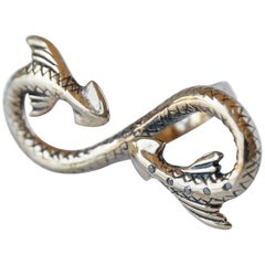 Black Diamond Snake Ring Statement