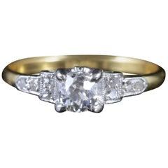 Antique Victorian Diamond Engagement Ring 18 Carat Gold Ring, circa 1900
