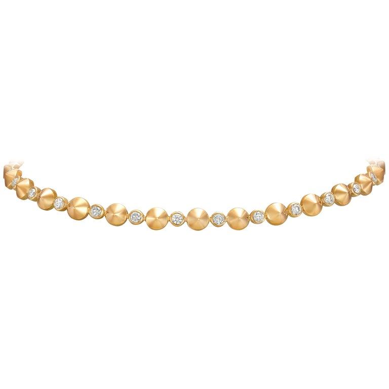 Yellow Gold and Diamonds Choker Necklace