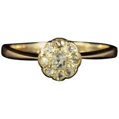 Antique Victorian Diamond Cluster Ring Engagement Ring, circa 1880
