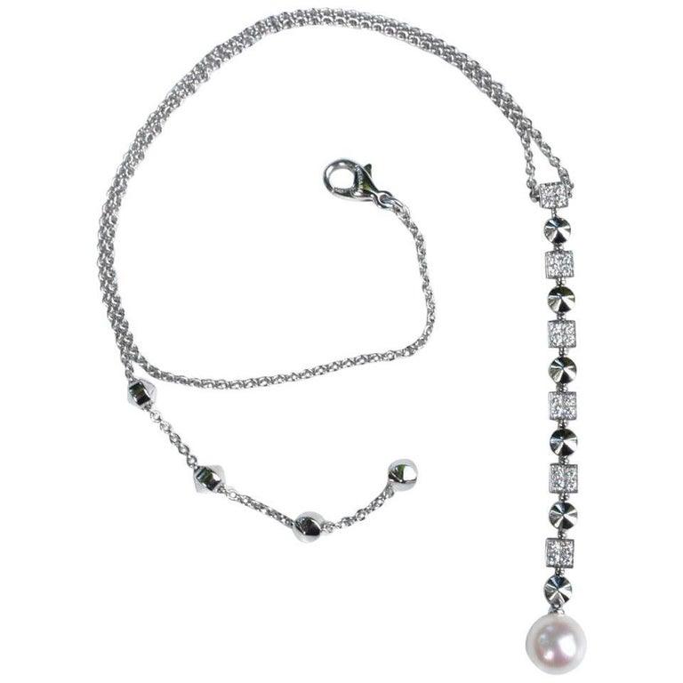 Bvlgari Lucea Diamond and Pearl Necklace