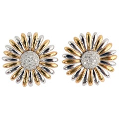 Asprey Sunflower Earrings with Diamonds