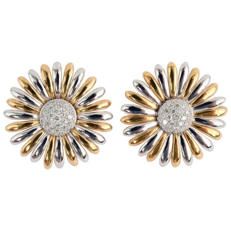 Asprey Sunflower Earrings with Diamonds