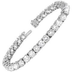 20.35 Carat Classic Tennis Bracelet