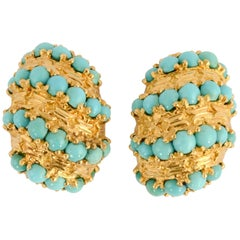 Pomellato Gold Turquoise Earrings