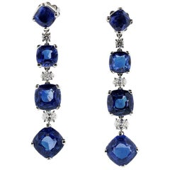 Bulgari Sapphire and Diamond Earrings