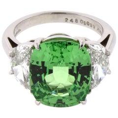 Tiffany & Co. Grossularite Garnet 9.08 Carat Platinum Ring