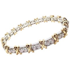 Tiffany & Co. Jean Schlumberger 36-Stone Diamond Platinum and Gold Bracelet