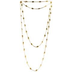 Marco Bicego Siviglia 18 Karat Yellow Gold Small Bead Long Necklace