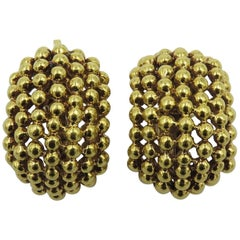 Tiffany & Co.Gold Half Hoop Earrings