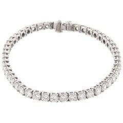 Bulgari Griffe Tennis Bracelet Platinum 9.00 Carat with Box