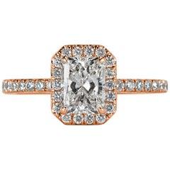 Mark Broumand 1.52 Carat Radiant Cut Diamond Engagement Ring