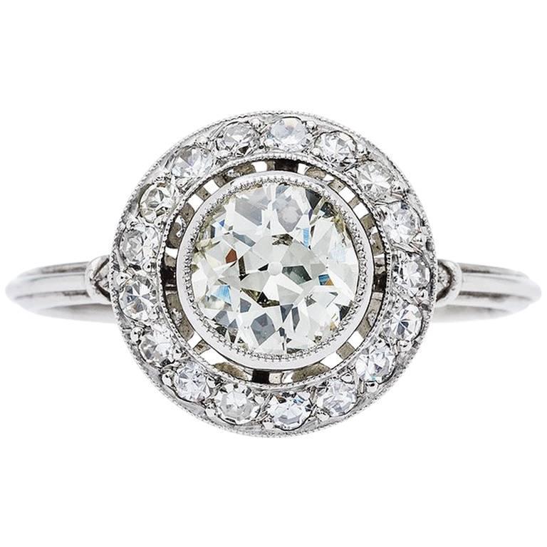 0.82 Carat Diamond Platinum Engagement Ring
