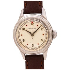 Movado Ladies Stainless Steel manual Wristwatch, circa 1940s