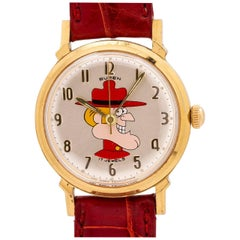 Buren Dudley Do-Right from Rocky and Bullwinkle manual Wristwatch, circa 1960s