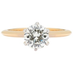GIA 1.04 Carat Solitaire Engagement Ring
