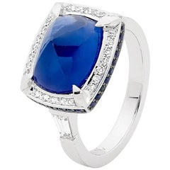 Cabochon Sapphire and Diamond Dress Ring by Matthew Ely