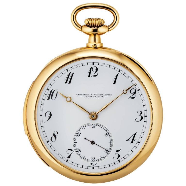 Vacheron & Constantin yellow Gold Minute Repeater Art Deco Pocket Watch