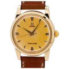 Omega Yellow Gold Filled Tropical Seamaster manual Wristwatch, circa 1950s