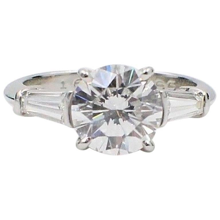 Tiffany & Co. 2.86 Carat D VS1 Diamond Platinum Engagement Ring