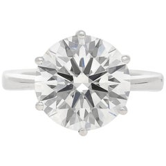 "GIA Certified Round-Cut 6.82 Carat ""G"" Color ""VS1"" Clarity Diamond Ring"