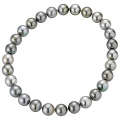 Tahitian Grey Cultured Pearl Necklace