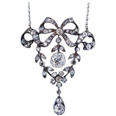 Belle Époque Antique Garland Style Diamond Necklace