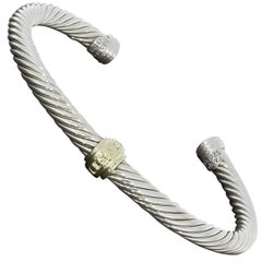 David Yurman Cable Classic Station Cuff Bracelet