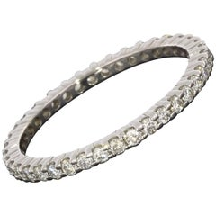 .65 Carat Diamond Eternity 14 Karat White Gold Wedding Band Ring