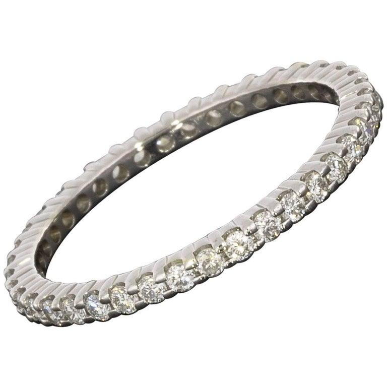 .65 Carat Diamond Eternity 14 Karat White Gold Wedding Band Ring