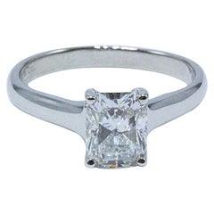 Tiffany & Co. 1.70 Carat Lucida F VVS2 Platinum Diamond Engagement Ring