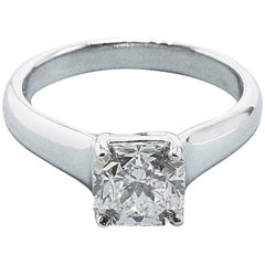 Tiffany & Co. 1.84 Carat F VVS2 Lucida Cut Platinum Diamond Engagement Ring