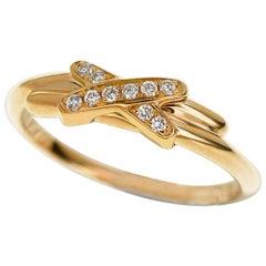 Chaumet Diamond 18 Karat Pink Gold Jeux de Liens Ring
