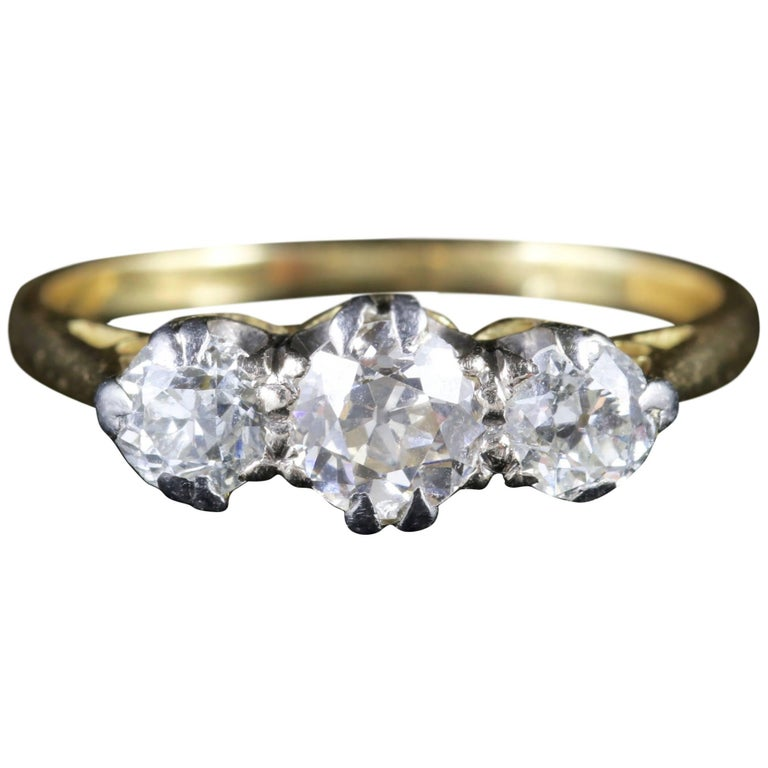Antique Edwardian Diamond Trilogy Ring, circa 1915