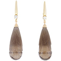 86.75 Carat Smokey Quartz Earring