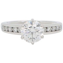 Tiffany & Co. 2.01 Carat F VVS1 Platinum Diamond Engagement Ring