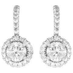 0.62 Carat Round Diamond Earrings