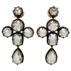 GIA Certified Grandeur-Victorian 19.42 Carat Total Weight, Chandelier Earrings