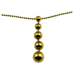 Tiffany & Co. Gold Graduated 5 Ball Pendant or Necklace