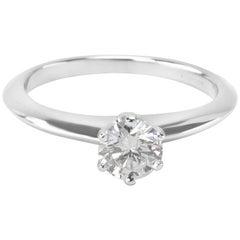 Tiffany & Co. Diamond Solitaire Engagement Ring in Platinum 0.42 Carat