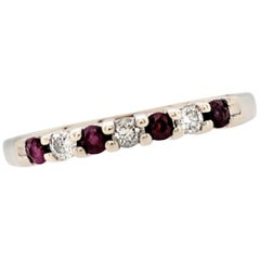14 Karat White Gold Kuber Ruby and Diamond Band Ring