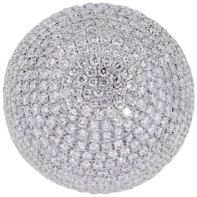 Diamond Pave Dome Cocktail Ring