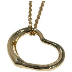 Tiffany & Co. Gold Elsa Peretti Open Heart Pendant