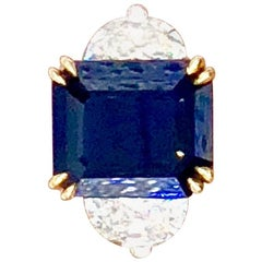 No Heat Sapphire Cocktail Ring