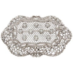 Platinum and Diamond Honeycomb Brooch, circa 1910
